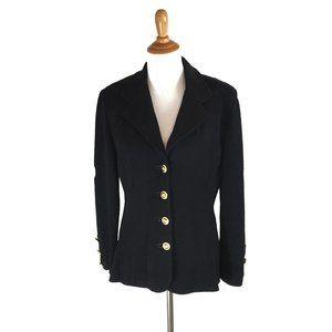 St. John Collection Black Cardigan Size 14